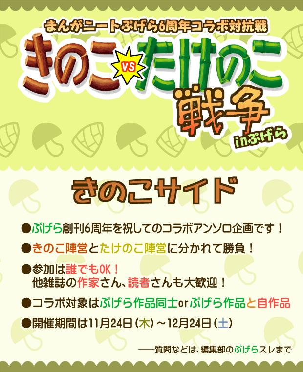 ぷげら6周年コラボ戦【きのこサイド】